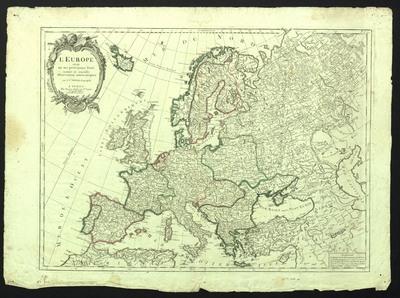 Image from object titled Europe divisée en ses principaux etats : suivant les nouvelles observations astronomiques, L'