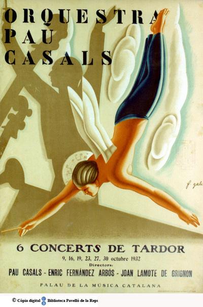 Orquestra Pau Casals : 6 concerts de tardor : 9, 16, 19, 23, 27, 30 octubre 1932 : directors: Pau Casals, Enric Fernández Arbós, Joan Lamote de Grignón...[etc.] : Palau de la Música Catalana