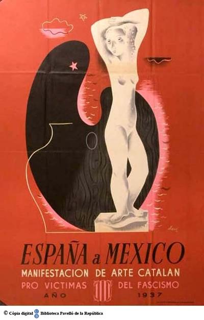 España a México, manifestación de arte catalán pro víctimas del fascismo