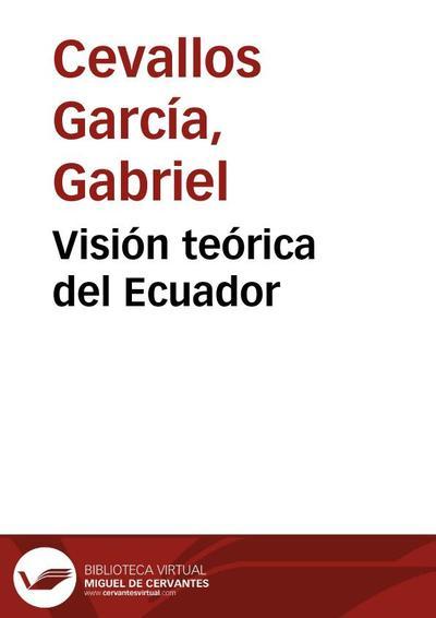 Image from object titled Visión teórica del Ecuador