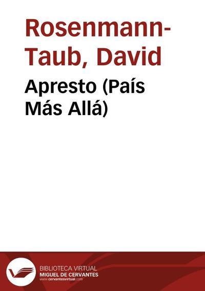 Image from object titled Apresto (País Más Allá)