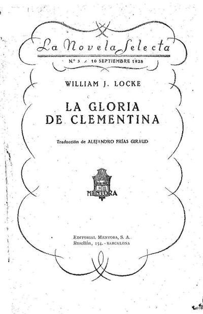 Image from object titled La gloria de Clementina