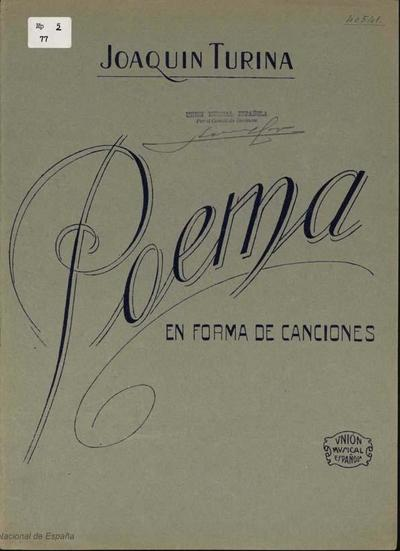 Image from object titled Poema en forma de canciones