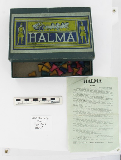 """Image from object titled board game: """"HALMA"""""""