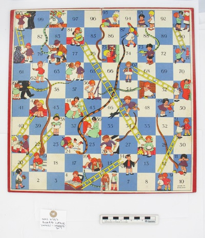 "Image from object titled board game: ""SNAKES AND LADDERS"""