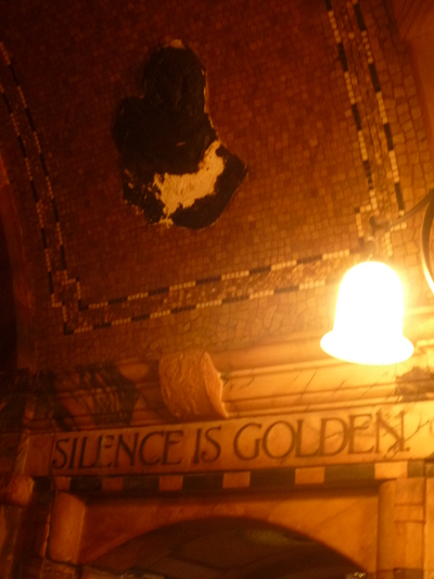 Silence is Golden - The Black Friar public house, Queen Victoria Street, London