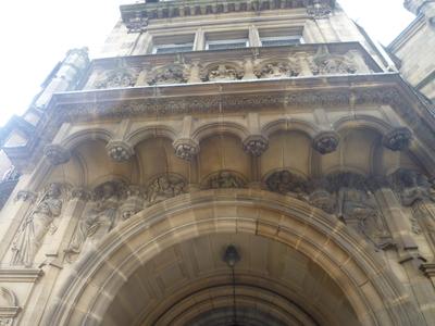 County Hall, Bond Street, Wakefield - Exterior entrance decoration