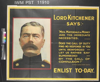 Image from object titled Lord Kitchener Says
