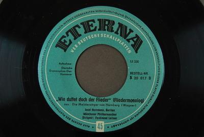 """Image from object titled Die Meistersinger von Nürnberg / Auswahl """"Wie duftet doch der Flieder"""" (Fliedermonolog), aus: Die Meistersinger von Nürnberg [2. Akt]"""