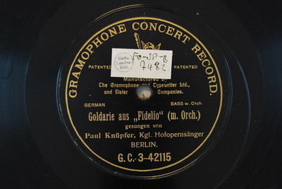 Image from object titled Fidelio <Hat man nicht auch Gold beineben>