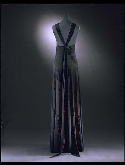 Viscose and nylon jersey bias-cut evening dress, designed by Ben de Lisi, Great Britain, 1996.