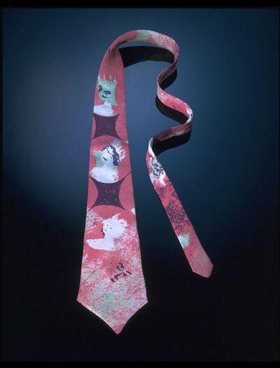 Printed silk tie, designed by Patrick Procktor, for Sulka & Co., England, 1970-1973.