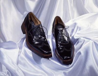 Pair of brogues, for a man, black leather, Sebastian, British, 1996.