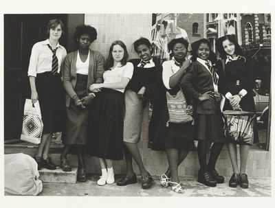 Image from object titled Untitled [school girls in a line] from the series On a Good Day
