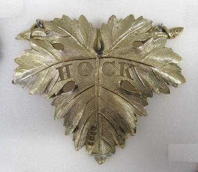 Silver-gilt, London hallmarks for 1826-7, mark of William Reid.