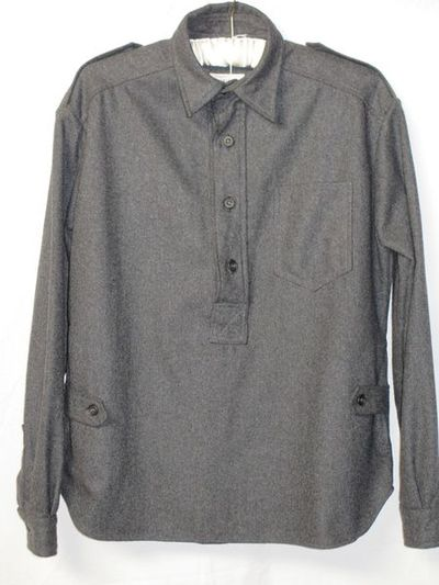 Flannel blouson shirt, made by Otto, Great Britain, 1960s.Flannel.
