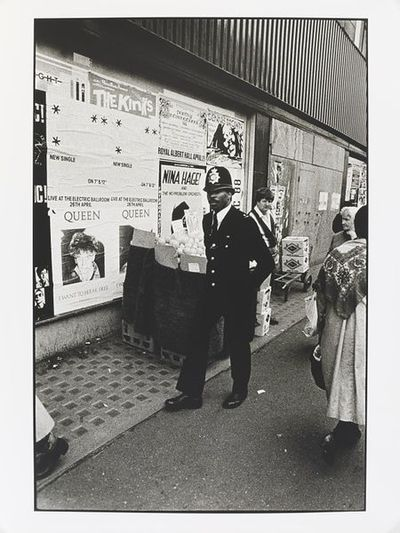 Black police officer - Camden High Street, Camden Town