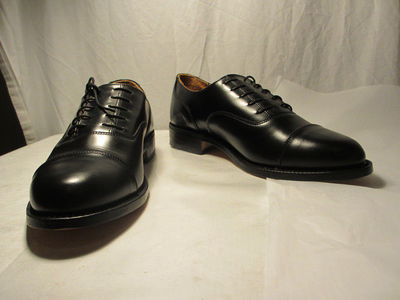 Pair of men's double faced Oxford/Derby shoes, designed by Patrick Cox, Great Britain, 1988-1989, included with original cardboard box.  ;;;;