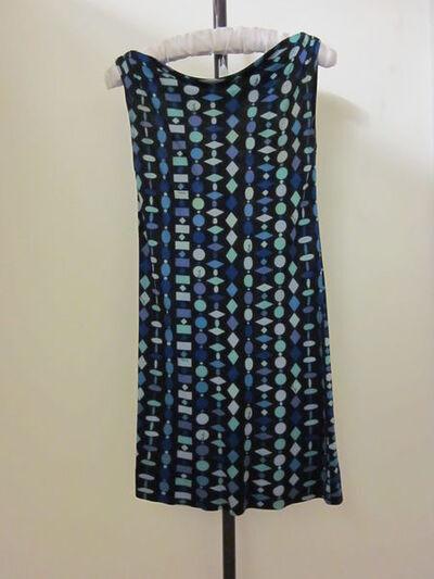 Mini-dress of printed silk, designed by Emilio Pucci, Italy, ca. 1968.Printed silk.