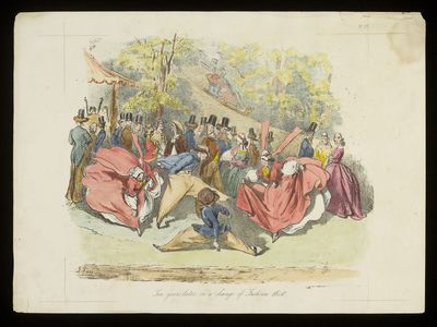 Ten years later, or a change of Fashion, 1840; Historical Cartoons, or, Rough Pencillings of the world's history from the first to the nineteenth century