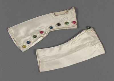 Pair of satin mittens, designed by Schiaparelli, Paris, 1938.