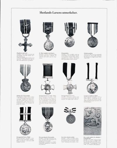 Shetlands-Larsens medaljer