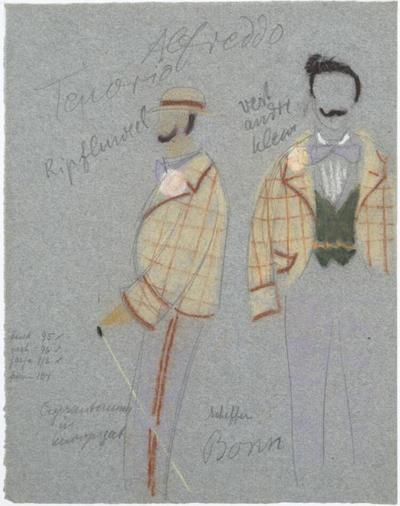Kostuumontwerp voor Chris Reumer als Alfred in Die Fledermaus