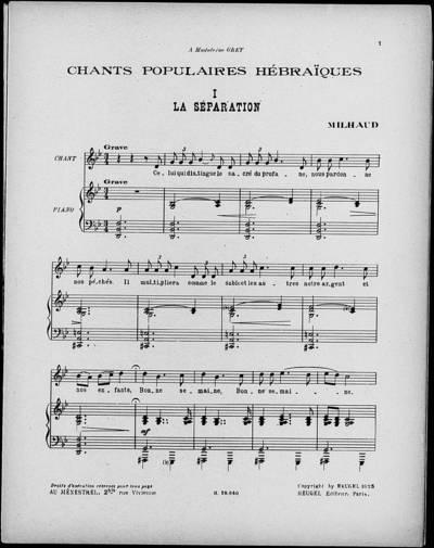 Chants populaires hébraïques