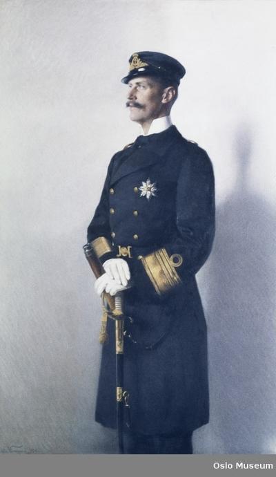 Image from object titled Portrett av Haakon VII