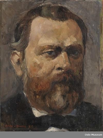 Bildet er malt etter et mindre portrett