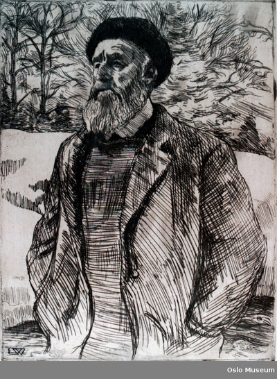 Portrett av Collett, Frederik Jonas Lucian Bothfield