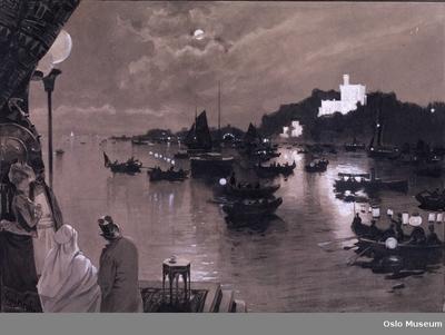 Orientalist-kongressens fest på Bygdøy 9/9-1889