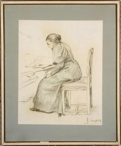 Kvinne som leser