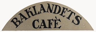 Bakklandets Café; Plakat