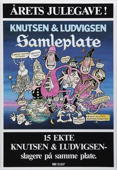 Knutsen & Ludvigsen / Samleplate; Plakat