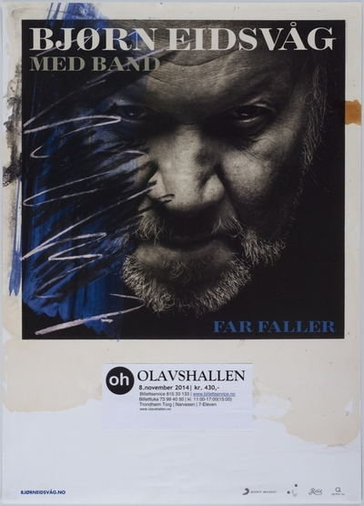 Bjørn Eidsvåg med band / Far faller; Plakat