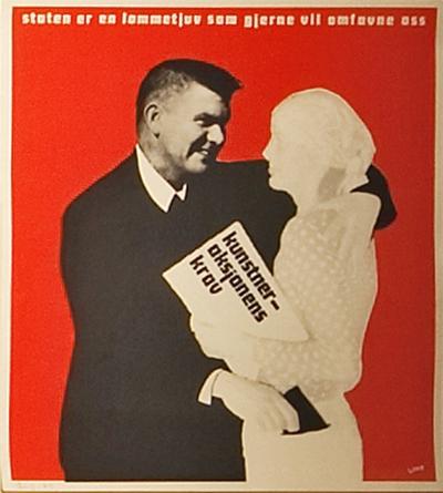 Plakat kunstneraksjonen -74