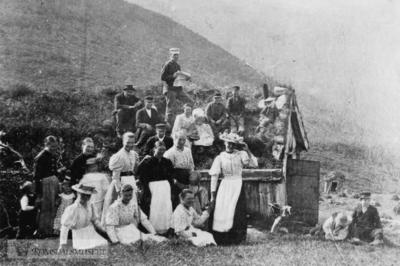 Feiring av fødselsdagen til Carl Hall i 1897