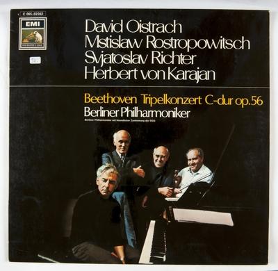 Beethoven Tripelkonzert C-dur op.56; Grammofonplate