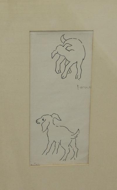 Tegning av to lam