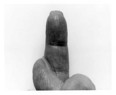 Self Portrait Crossed Fingers No 4