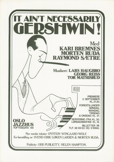 Kari Bremnes / It Ain't Necessarily Gershwin; Plakat