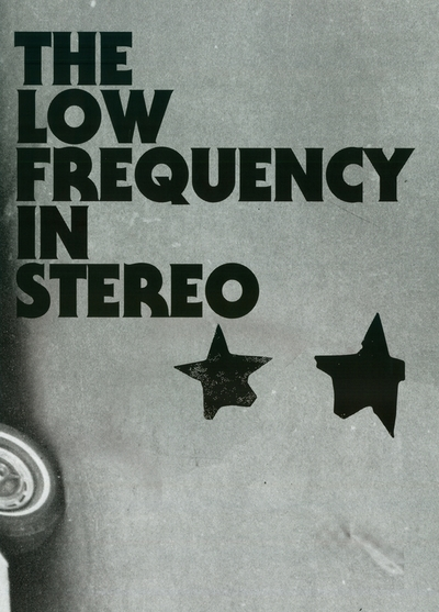 The Low Frequency In Stereo / Futuro; Plakat