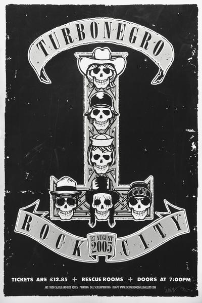 Turboneger : Rock City, Nottingham; Plakat