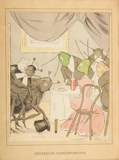 """""""Generende familieforhold""""; Fra serien """"Har dyrene sjæl"""" (1892)"""