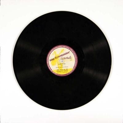 Jag ville bli en cowboys flicka / Stoppa ner järnet pappa lilla; Grammofonplate