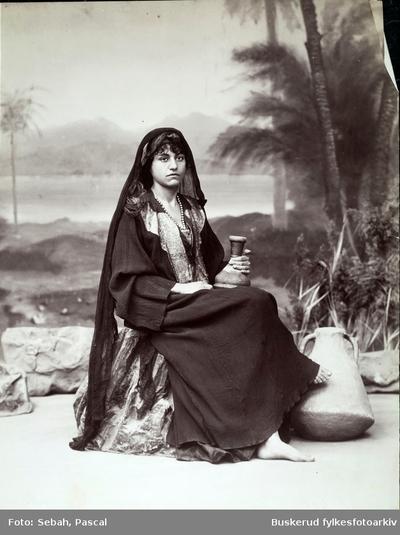 Arabisk kvinne portrett
