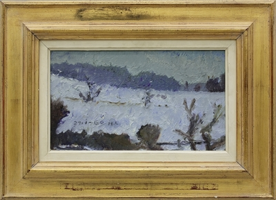 Winter Landscape. Snow; Vinterlandskab. Sne