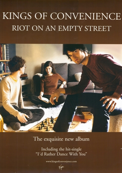 Kings of Convenience / Riot on an Empty Street; Plakat