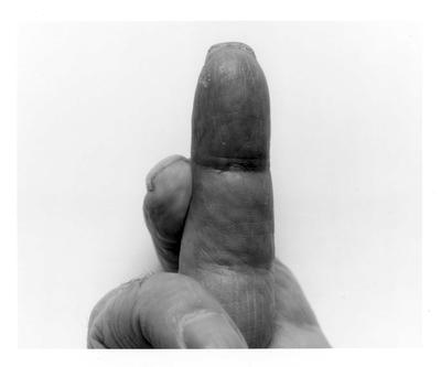 Self Portrait Crossed Fingers No 1